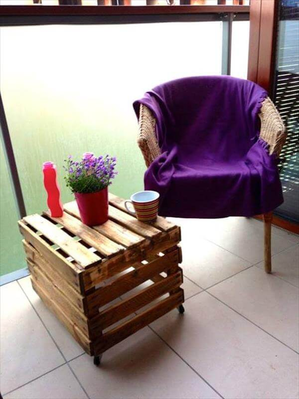 upcycled pallet crate coffee table