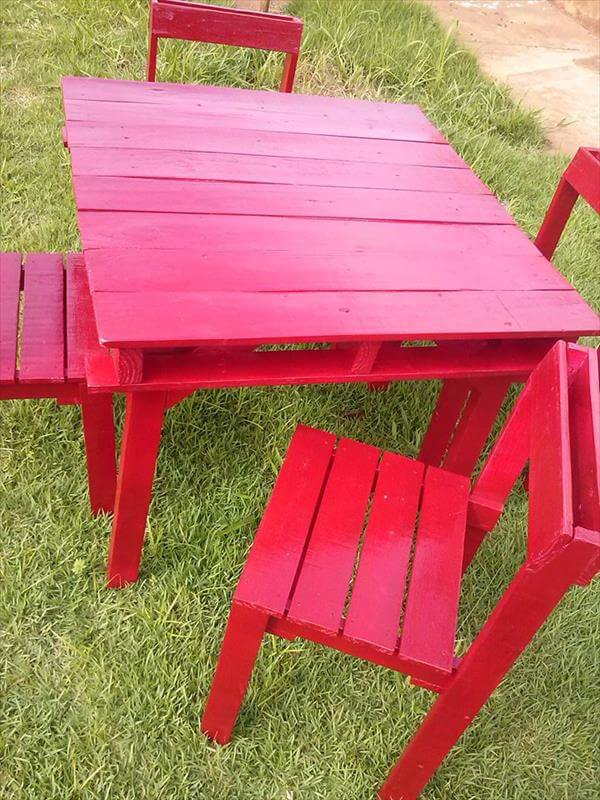 recycled pallet outdoor dining furniture