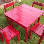 DIY Pallet Patio Coffee or Dining Furniture Set