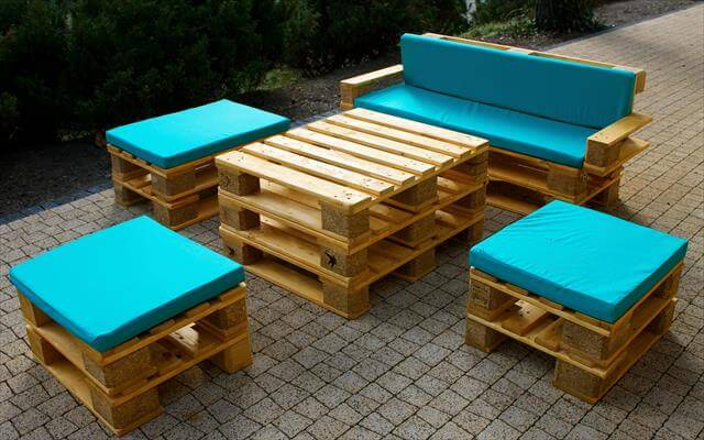 Diy Pallet Handmade Patio Furniture