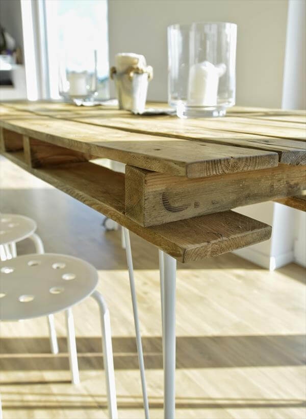 Vintage Inspired Pallet Dining Table 99 Pallets