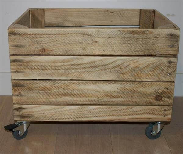 handmade pallet crate storage box