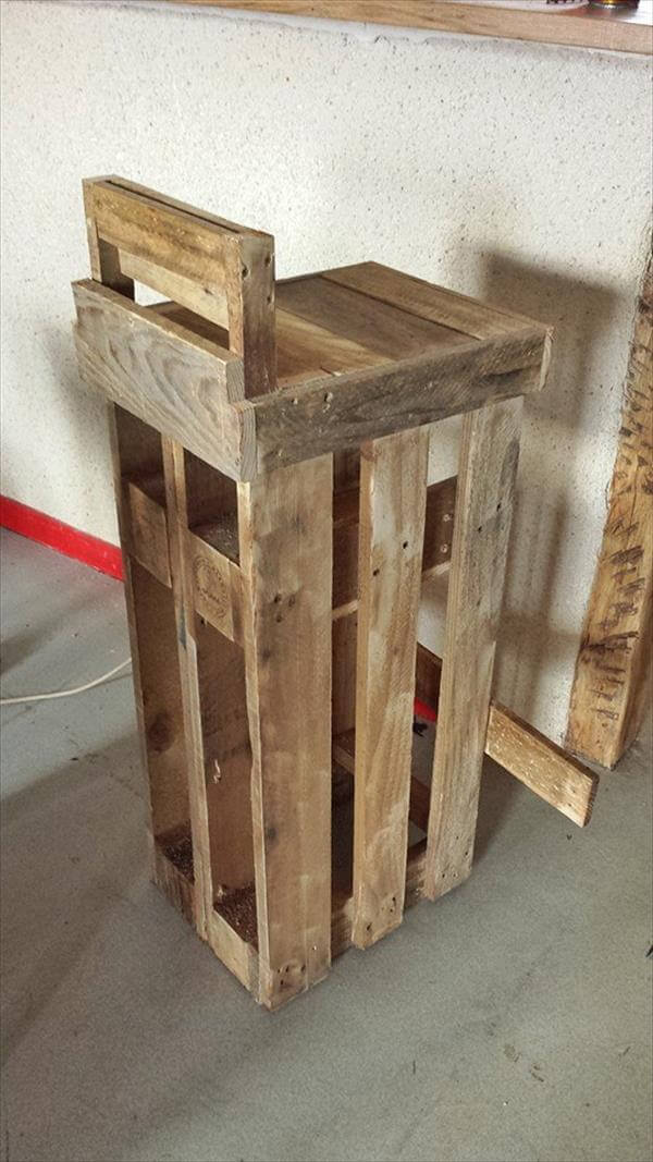 recycled pallet stool