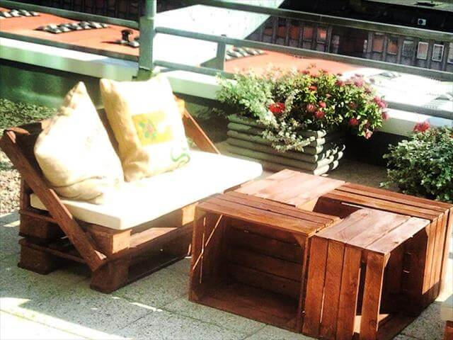 Furniture Made From Pallets diy pallet terrace furniture | 99 pallets