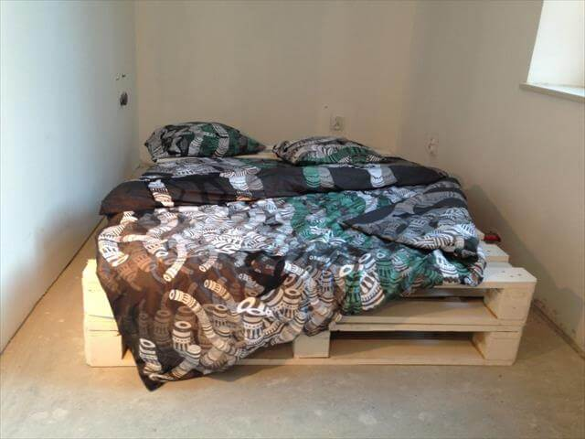 handcrafted pallet bed
