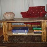 DIY Pallet Coffee Table with Book Storage