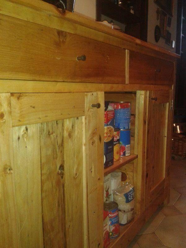 Diy Upcycled Pallet Kitchen Cabinet 99 Pallets