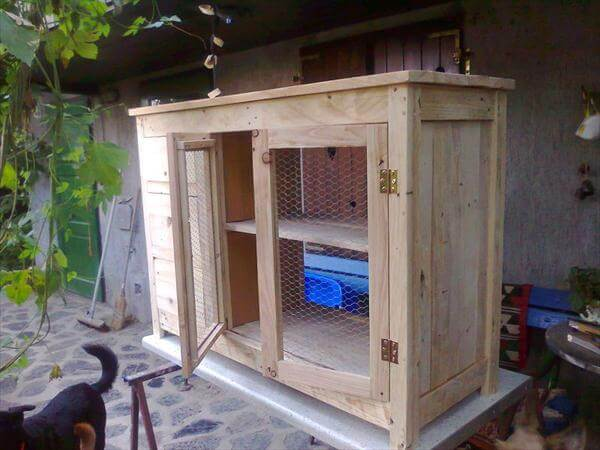 recycled pallet sideboard and kitchen cabinet