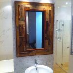 DIY Pallet Bathroom Accent Mirror