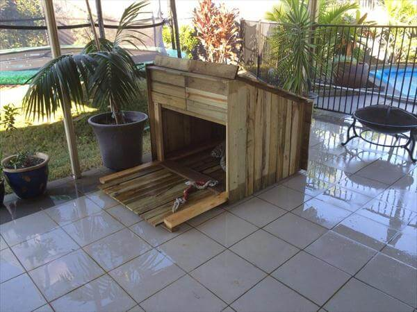 recycled pallet outdoor dog house