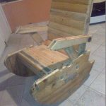 DIY Salvaged Pallet and Wire Spool Rocking Chair