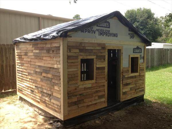 repurposed pallet outdoor house