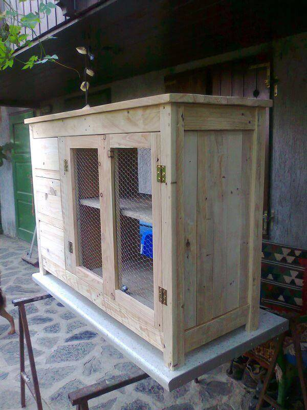upcycled pallet sideboard and storage cabinet