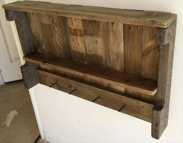 15 upcycled pallet ideas and projects 99 pallets for Pallet wall shelf