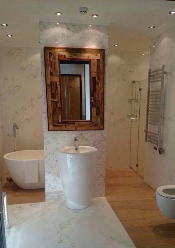 Diy Pallet Bathroom Accent Mirror 99 Pallets