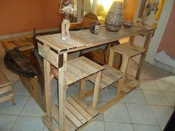 Diy Kitchen Island Pallet diy creative pallet console table - kitchen island table!!   99
