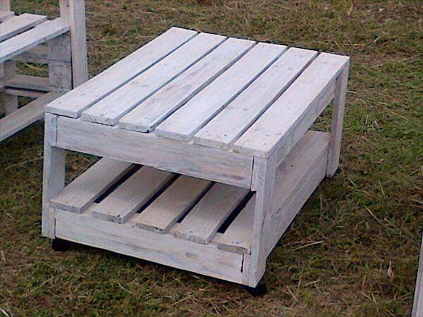 White Pallet Coffee Table diy pallet coffee table ideas for patio - living room | 99 pallets