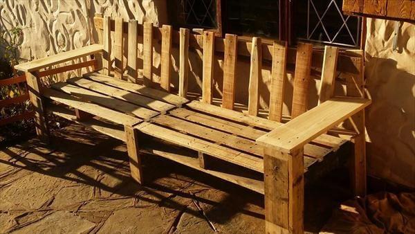 vintage inspired wooden pallet outdoor desk