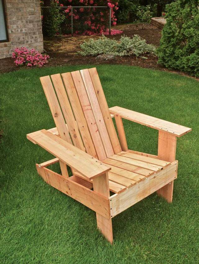 Diy Pallet Adirondack Chair Step By Step Tutorial 99