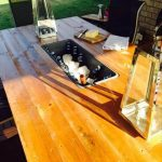 DIY Pallet Outdoor Table with Ice Box