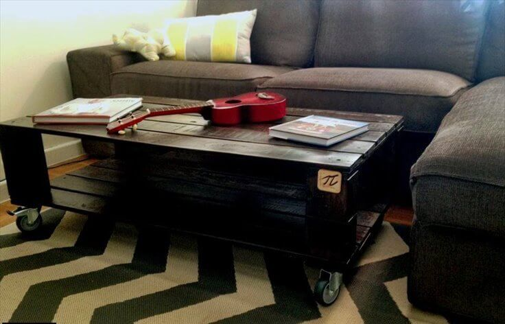 recycled pallet choco coffee table