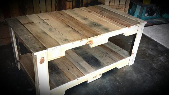 Diy Reclaimed Wood Pallet Coffee Table 99 Pallets