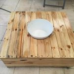 DIY Pallet Coffee Table with Fixed Ice Bowl