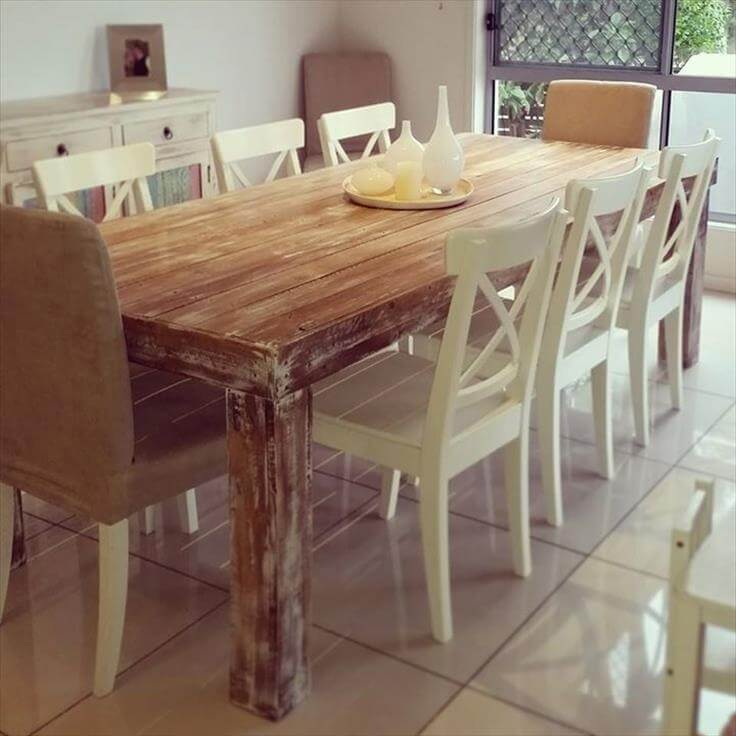 ... table pallet dining table with reclaimed legs diy pallet coffee table