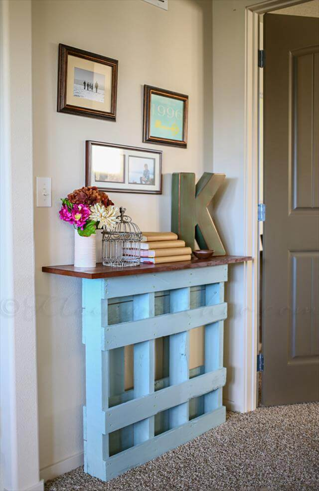 handmade pallet console table