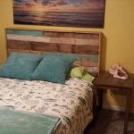 DIY Hand-built Pallet Bed With Headboard
