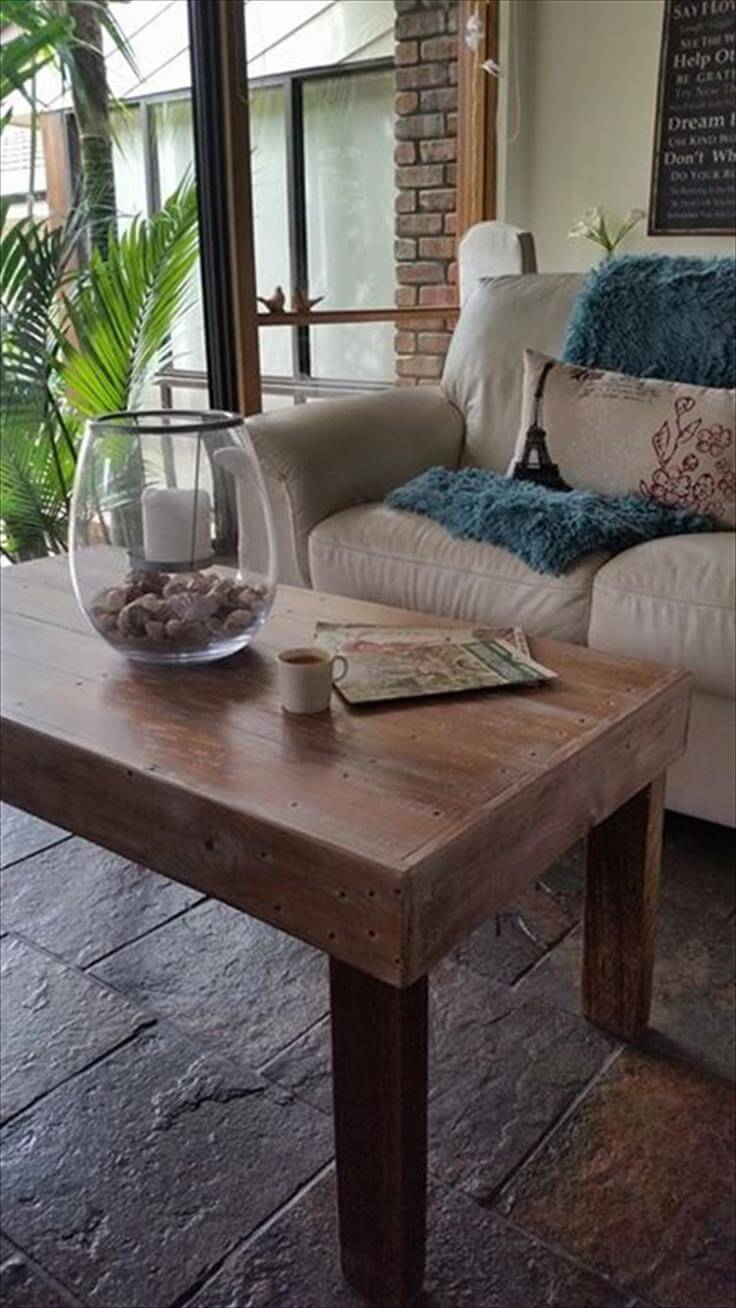 rustic yet modern pallet dining table