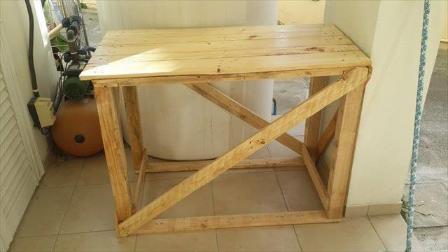 reclaimed pallet sofa table and hallway table