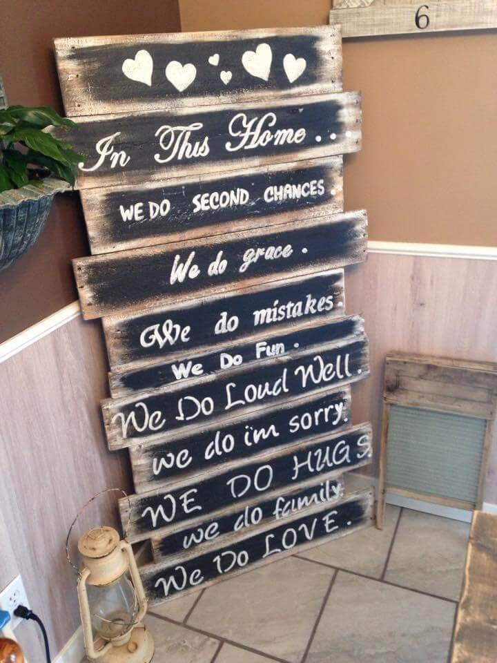 repurposed pallet family rule chart