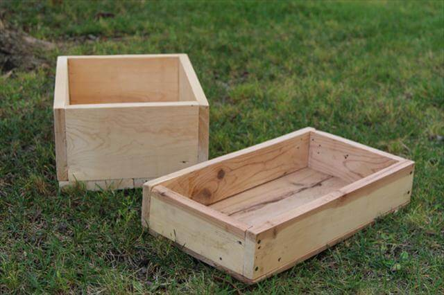 upcycled pallet handmade crates
