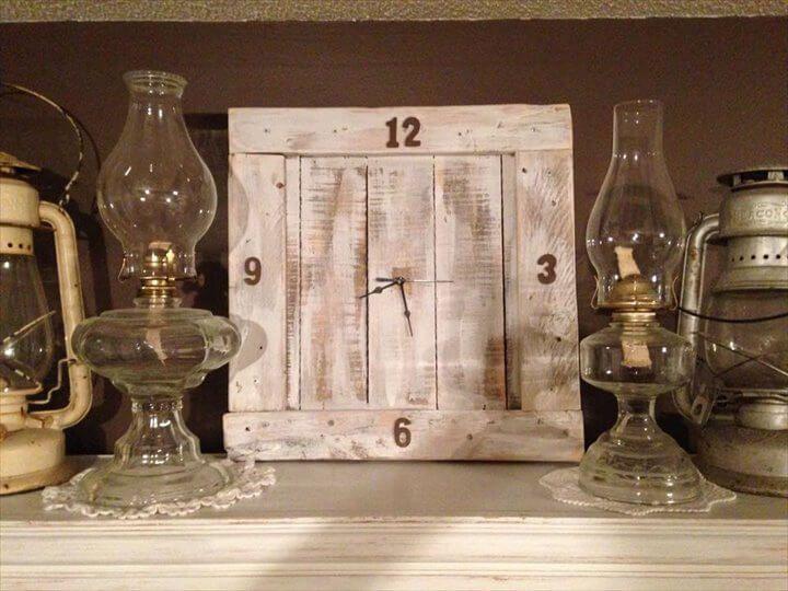 wooden pallet wall clock diy