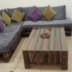 DIY Pallet L-Shaped Sofa – Coffee Table for Living Room