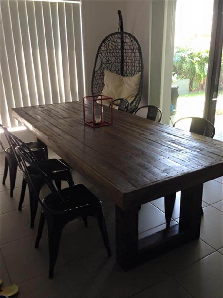 Diy Custom Built Pallet Dining Table Ideas 99 Pallets