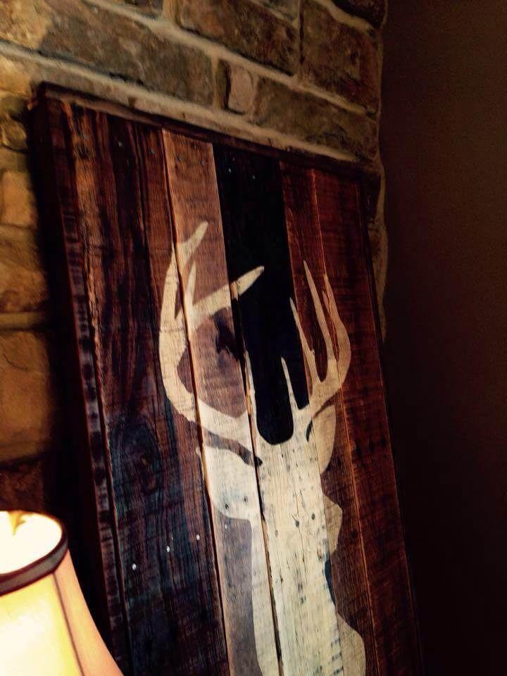 Diy Antique Pallet Deer Buck Wall Art 99 Pallets