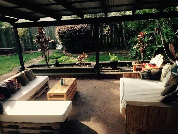 recycled pallet outdoor gazebo furniture