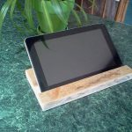 Recycled Pallet Tablet and Phone Holder