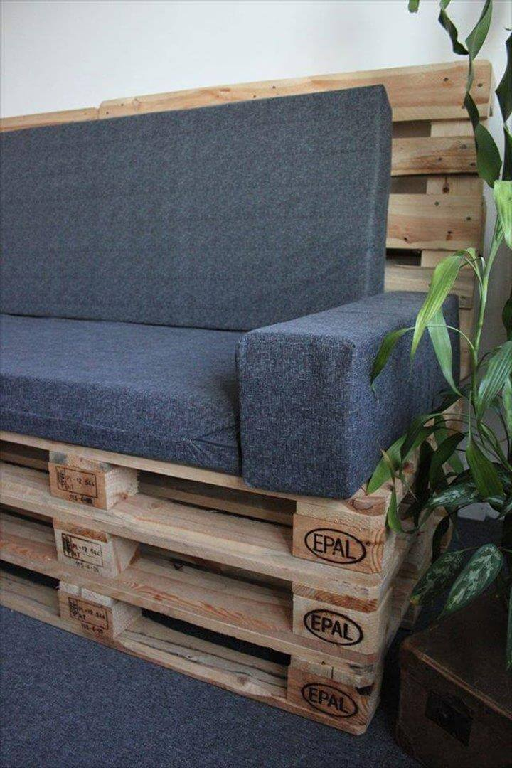 handcrafted pallet settee