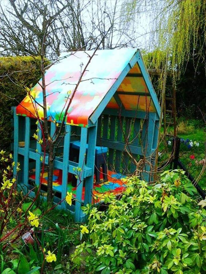 12 diy upcycled pallet projects try out at home How to build outdoor playhouse