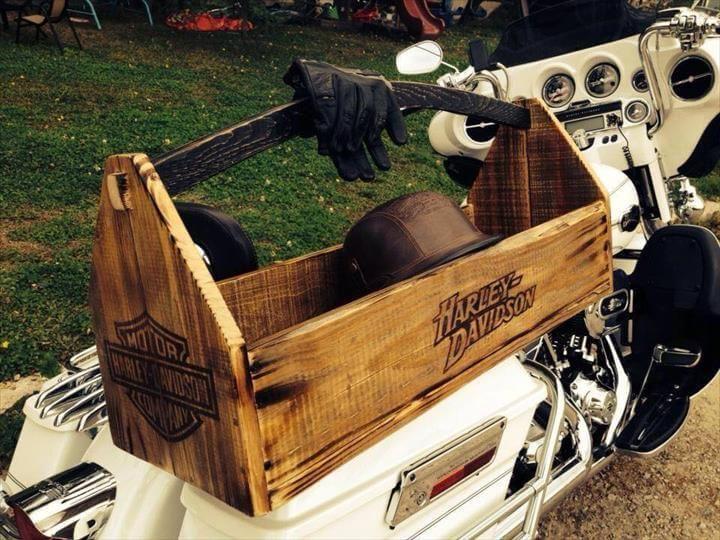 wooden pallet rustic basket