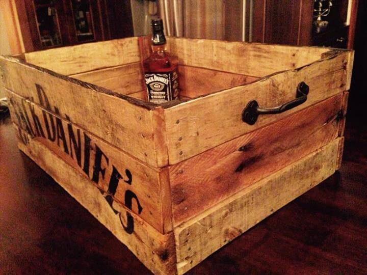 recycled pallet rustic beverage box