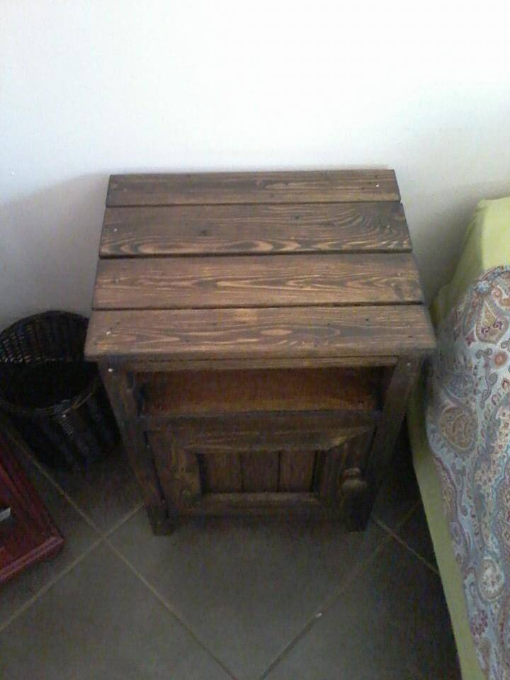 Dark Brown Wood Pallet Nightstand 99 Pallets