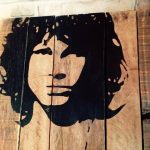 DIY Amazing Jim Morrison Pallet Wall Art