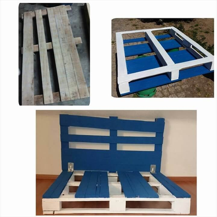 12 diy creative wood pallet ideas 99 pallets for White pallet bed