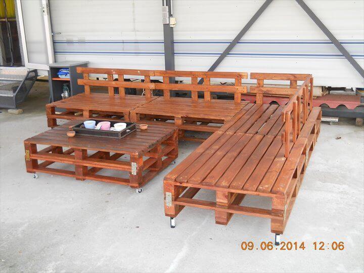 reclaimed pallet lounge sofa set