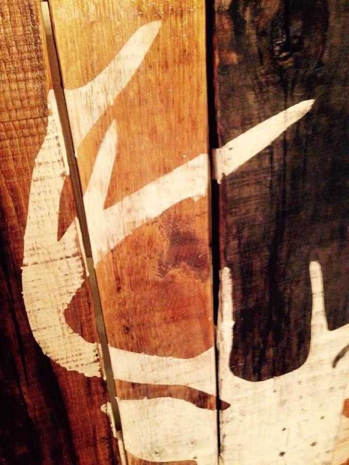 DIY Antique Pallet Deer Buck Wall Art | 99 Pallets