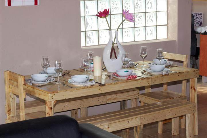 reclaimed pallet dining furniture